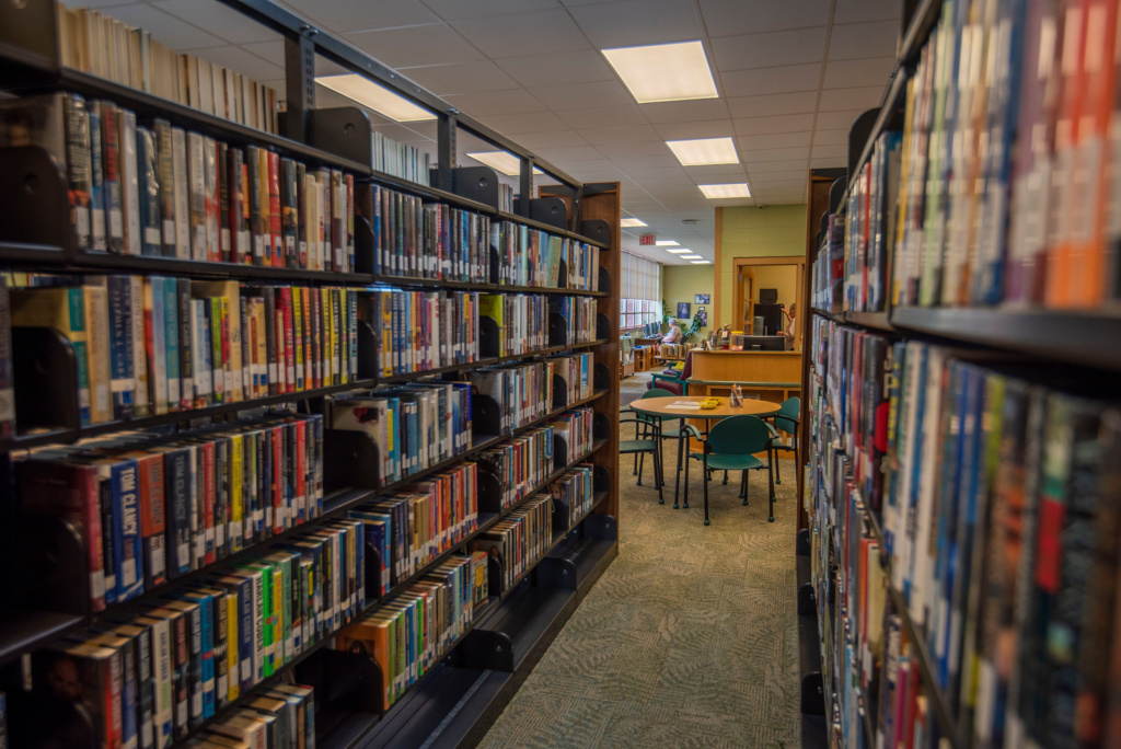 hayters gap library bookshelves