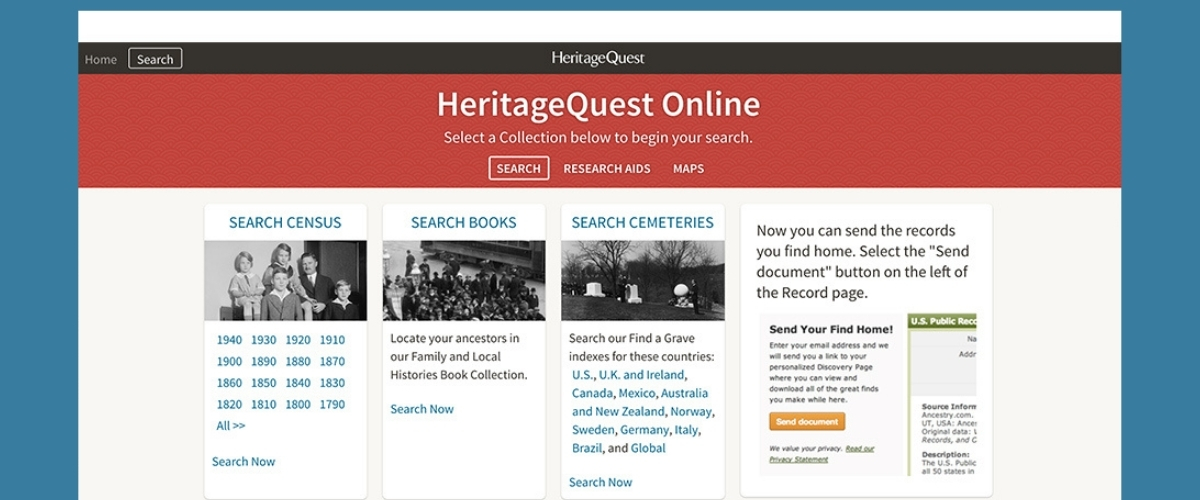 Try Heritage Quest >>